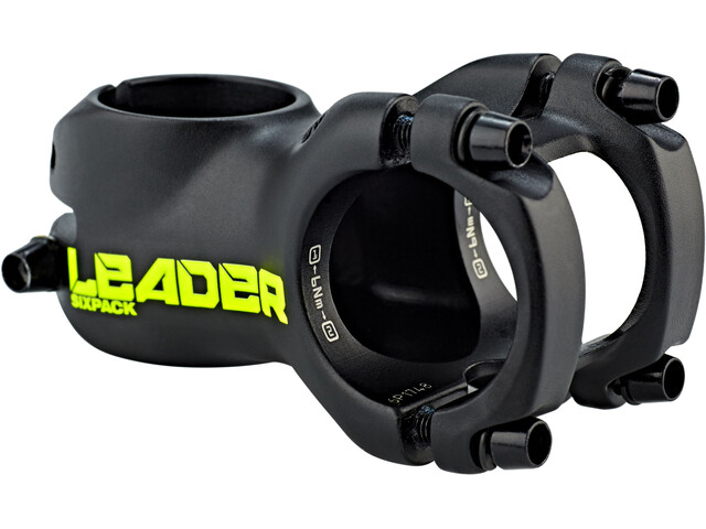 Sixpack Leader Stem 35 mm, for shaft coupling, black/neon-yellow